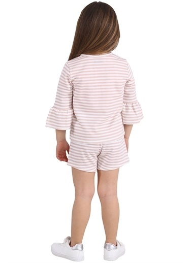 Silversun Kids Kız Çocuk Çizgili Cepli Örme Şort Sc 215454 Pembe